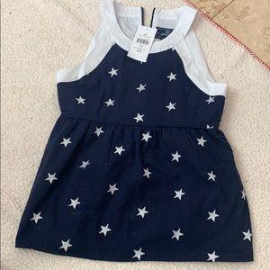 Lauren James navy star top with tags